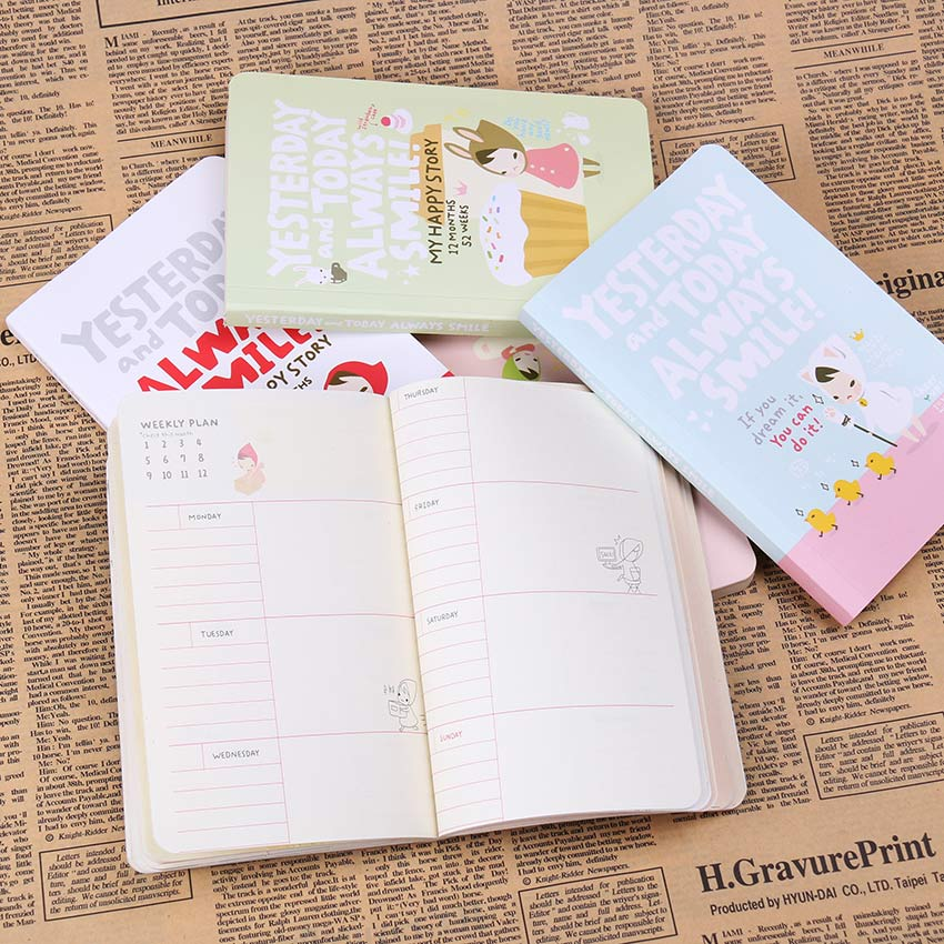 Cute Notebook Red Hat Girl Agenda Week Plan Diary Day Planner Journal Record Stationery Office School Supplies 1pc kawaii and cute notebook paper lovely red hat girl agenda week day planner journal record stationery office school supplies