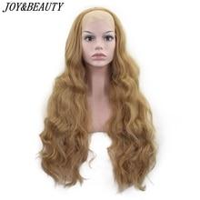 JOY&BEAUTY 26inch Long Wavy Synthetic Lace Front Wig Glueless Heat Resistant Swi