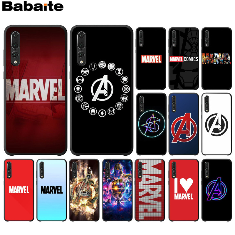 Babaite Marvel Comics logo Novelty Fundas Phone Case Cover for Huawei P10 plus 20 pro P20 lite mate9 10 lite honor 10 view10 image