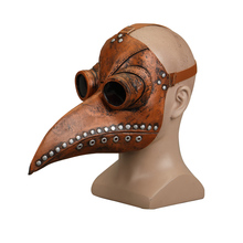 Steampunk Plague Doctor Mask Latex Bird Beak Long Nose Masks Cosplay Costume Funny Face Wear Halloween Party New