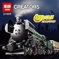 1085 unids serie técnica esmeralda noche tren kits de edificio modelo bloques ladrillos bloques niños juguetes diy vehículo gigt