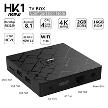 HK1 MINI Android 8.1 Smart TV BOX Rockchip RK3229 Quad core 2GB Ram 16G Rom H.265 4K TV Sep Top Box Media Player PK X96 MINI TX3 ttv box mx pro 4k tv box latest kd 18 0 version tv box android 7 1 2gb 8gb rk3229 4k quad core android tv box iptv media player