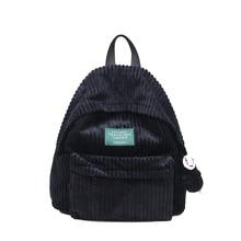 2018 Otoño e Invierno nueva moda bolso de hombro, mochila de tela de pana bolsa de viaje, cómoda y simple gran capacidad