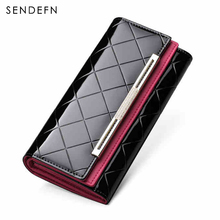 Brand Luxury Wallet Female Patent Leather Lady Clutch Long Women Purse portemonnee Money Bag Coin Purse Cartera Mujer