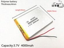 1pcs/lot 407093 3.7V 4000MAH update Battery For 7