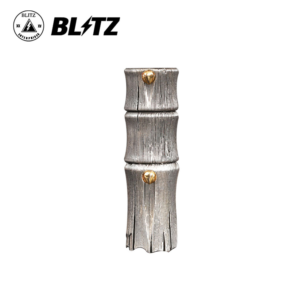 Original Blitz B17 MECH MOD Powerful Mechanical MOD w/ Bamboo Style Retro Silver Plated Brass Tube & 510 Hybrid Top Cap No Cell car led headlight kit led with fan h1 h3 h4 h7 h8 h9 h10 h11 h13 9005 hb3 9006 9004 9007 9005 hi lo for car hyundai toyota