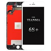 天馬品質5ピースアリババ中国携帯電話部品のためのiphone 6 sプラスlcdディスプレイタッチスクリーンアセンブリ無料dhl無料