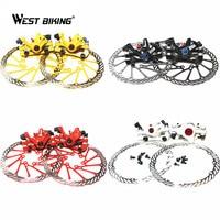Piezas de la bici mtb mountain Road Ciclismo Bicicletas frenos de disco delantero y trasero + 2 Disco frenos + Tornillos Ciclismo rotores de freno de disco