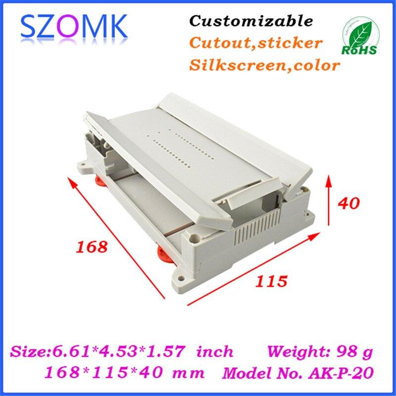 electrical din rail plastic box (1 pcs) 168*115*40mm szomk new plastic housing for pcb board, plastic junction boxes
