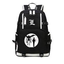 d04e84a1be5 Anime Death Note Rugzak schoudertas schooltas Laptop bag packsack mannen  vrouwen student boekentas Notebook Tieners Knapzak