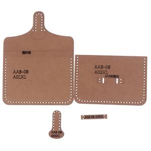 1set Leather Handmade Hard Kraft Paper Stencil Template For DIY Leather Craft Women Handbag Shoulder Bag Sewing Pattern