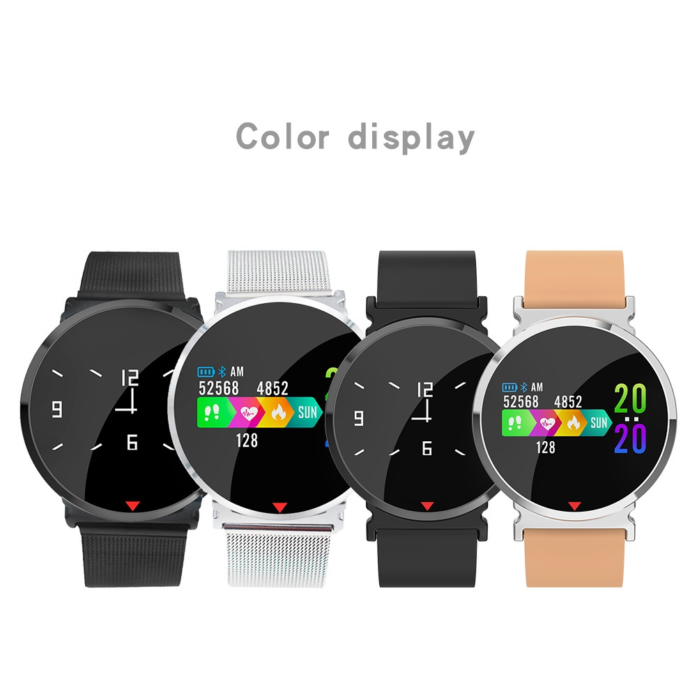 Cor da Tela de Toque do bluetooth Relógio Inteligente Pulseira Sports pulseira das mulheres dos homens crianças hua wei xiao mi bandas para IOS Android e28 - 5