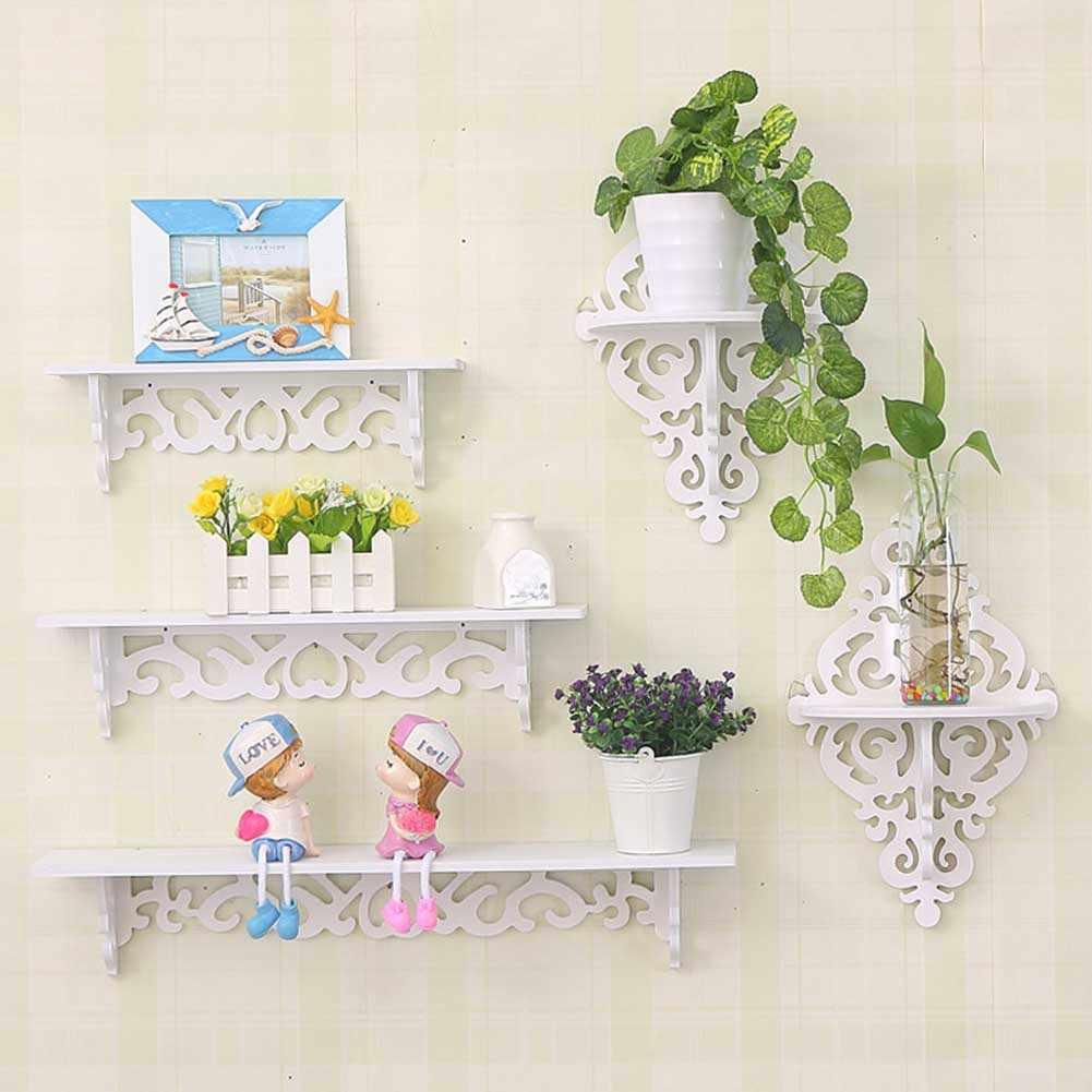 Rack de armazenamento prateleira titular parede pendurado criativo decoração organizador para casa quarto myding