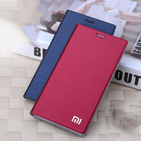Luxury Leather Pouch Bags Card Holder Stand Flip Cover Case For Xiaomi 4 M4 Mi4 Mi