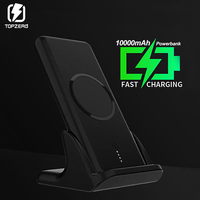 10000mAh QI Fast Wireless Charger Power Bank For iPhone XR XS Max Xiaomi Samsung Moblie Phone PowerBank With Charger Base Stand