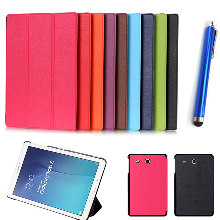 uxury Ultra-thin magneti leather case for Samsung Tab E 9.6 inch Flip stand cover for Samsung Galaxy Tab E 9.6 SM-T560 T561