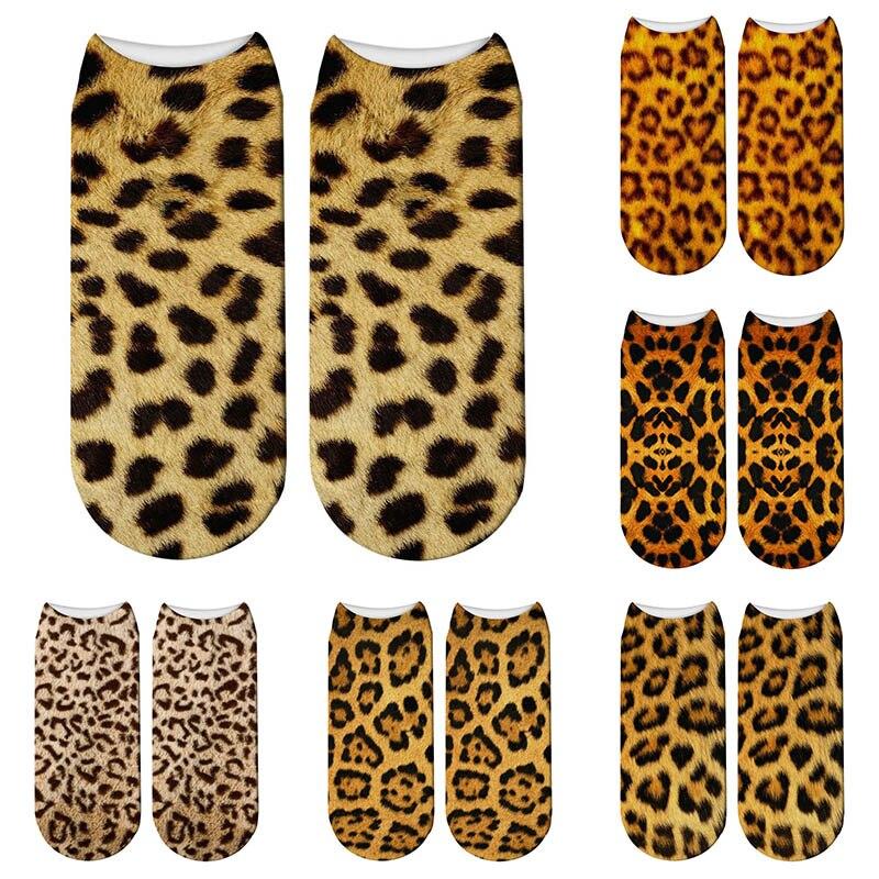3d Tiere Leopard Print Socken Tier Digitaldruck Nette Baumwolle Socken Kawaii Unisex Kinder Frauen Niedrigen Knöchel Socken Geeignet FüR MäNner Und Frauen Aller Altersgruppen In Allen Jahreszeiten