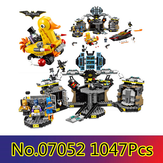 Models building toy 07052 1047pcs Building Block Compatible with lego 70909 super heroes movie blocks Batcave toys hobbies