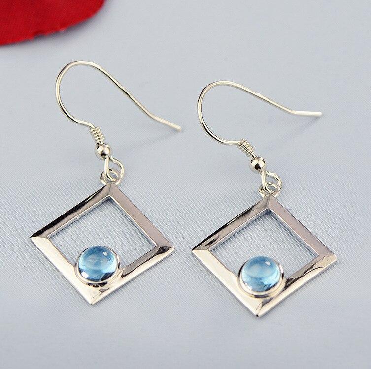 2018 Rushed Earings Fashion Jewelry New 925 Jewelry, Natural Earrings, Garnet, Olivine, Geometric Fashion, Ladies' Earrings. 2017 rushed qi xuan fashion jewelry
