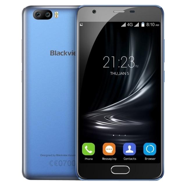 Original Blackview A9 Pro Android 7.0 MTK6737 Quad Core 5.0 inch 2GB RAM 16GB ROM 4G LTE Smartphone Dual SIM 1280X720P 3 Cameras
