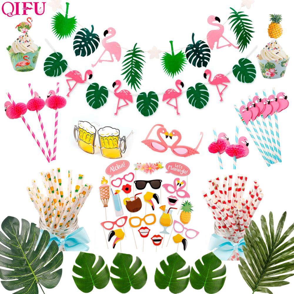 Hawaii Party Luau Flamingo Party Flamingo Decoration Pineapple Summer Party Birthday Hawaiian Party Decor Wedding Tropical Decor