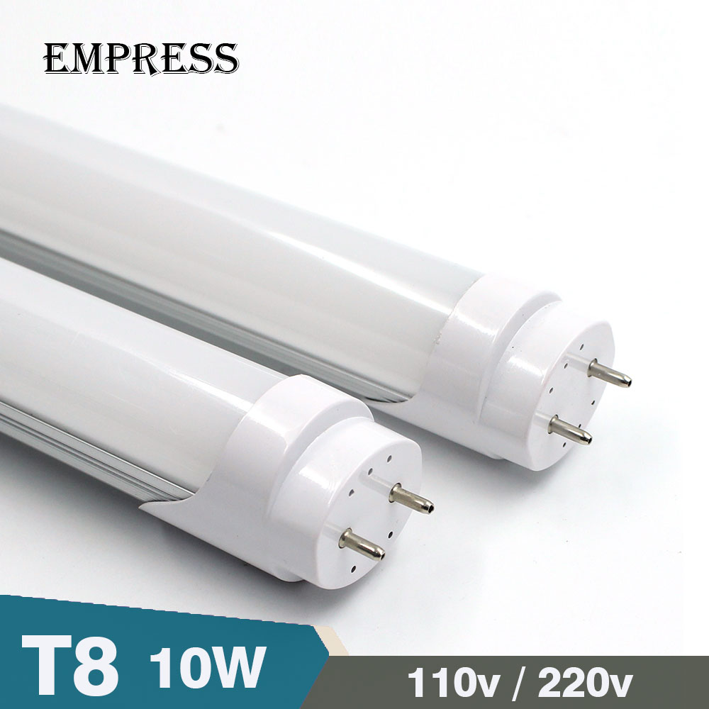 10W AC 110V 220v Integrated LED Tube Light Bulb T8 led Lamp Tube 600mm SMD 2835 wall Lamps Cold Warm White Lampada Led Spotlight led t8 integrated tube 10w 600mm 110v 220v 85 265v transparent clear cover milky cover free ship 2ft white warm white smd2835