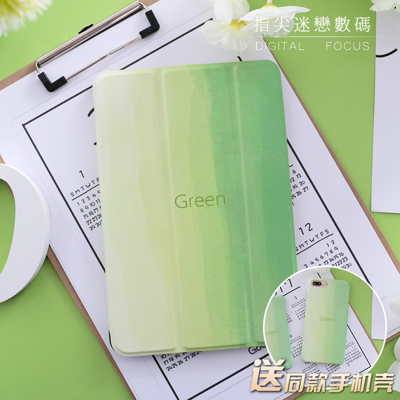 Green Mini3 Mini4 Mini2 Flip Cover For iPad Pro 10.5 9.7 2017 Air Air2 Mini 1 2 3 4 Tablet Case Protective Shell 10.5 9.7 for new ipad 9 7 2017 visual acuity chart flip cover for ipad pro 9 7 10 5 air air2 mini 1 2 3 4 tablet case protective shell