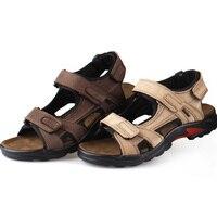Uomo Sandali Pistoni Originali sandali In Pelle Vacchetta Sandali Degli Uomini Del Progettista di Marca Classica Estate Piatto Calzature Uomo Spiaggia Scarpe Casual