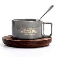 300 mL Stile Italiano Espresso pomeriggio tazza di tè Classico latte tazza di caffè con piattino set cucchiaio di Casa Cafe di caffè di ceramica set