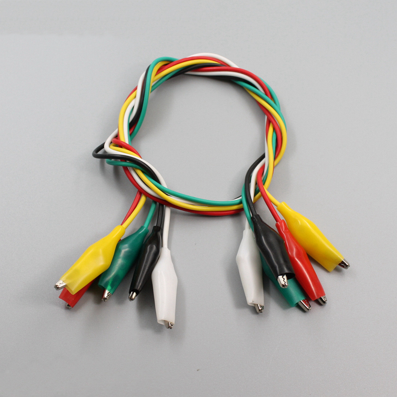 10pcs Alligator Clips Electrical Diy Test Leads Double