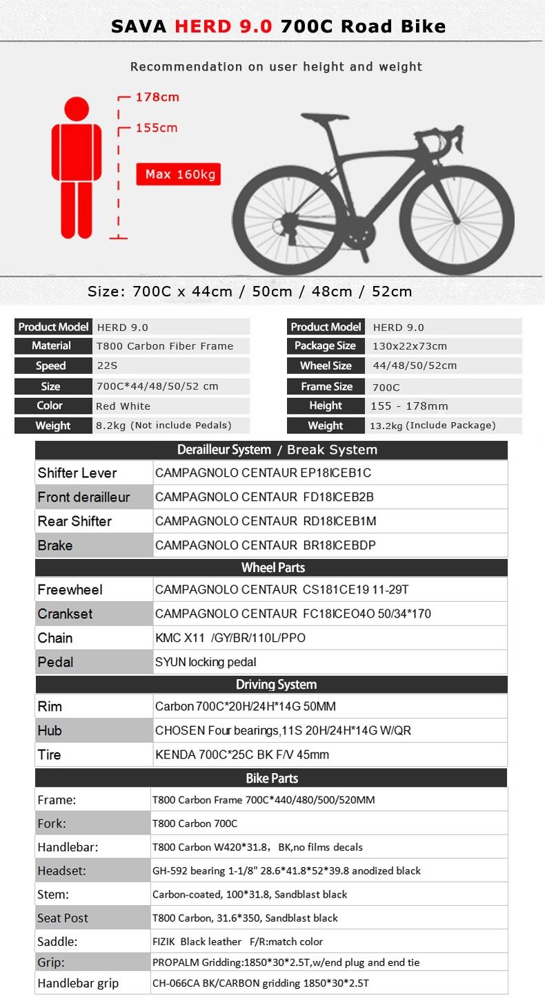 HTB1BVOSaLvsK1RjSspdq6AZepXaF - SAVA Carbon Highway bike Highway Bicycle 700c Carbon Bike Herd 9.zero Biking Pace Highway Bike 22 Pace bicycle Full carbon Body/wheelset
