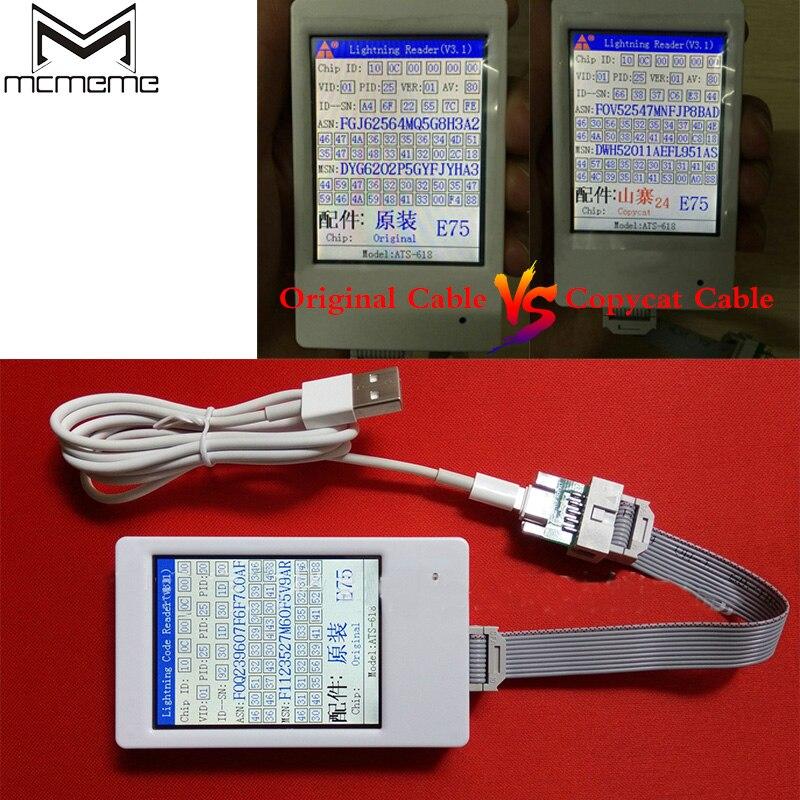 Identificator OEM de testare a cablurilor pentru iPhone 8 7 6 6s Plus Identificator de cablu Cititor de cod pentru iPad 4 Air Match Cel mai nou IOS11 IOS10
