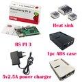 Raspberry Pi 3 Board + 5 V Fonte De Alimentação 2.5A + Case + Dissipador de calor Para Raspberry Pi 3 Modelo B PI 3 WiFi & Bluetooth