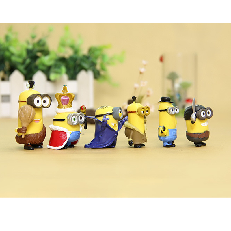 Image 4 - 12pcs Mini Despicable Me Minion Action Figures Minions PVC Toys Anime Figurines Movie Model Toy Gift for KidsBlocks   -