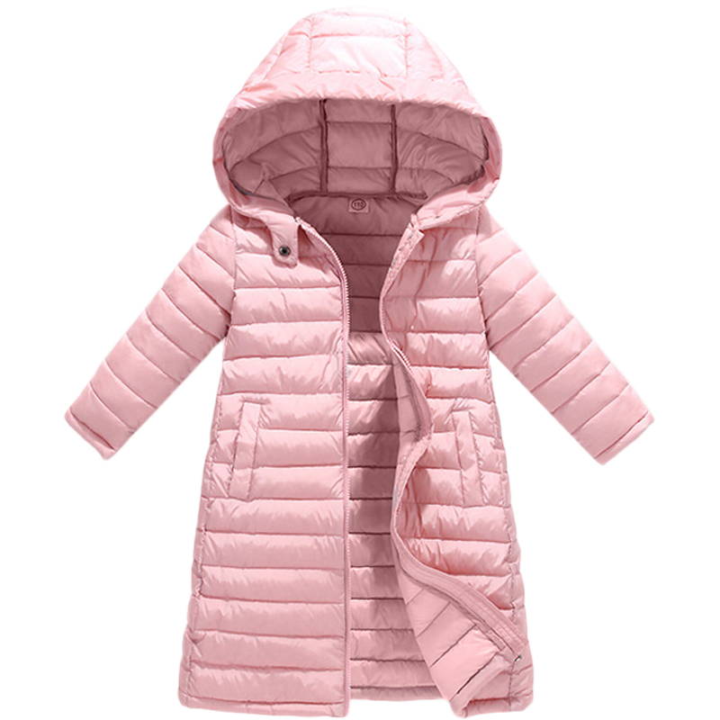 Children Boys Girls Jackets Autumn Winter Down Coat Baby Warm Outerwear Clothing Kids Hooded Thin Cotton Padded Jacket Parka