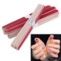 40 unids/lote uñas manicura del arte de lijado archivos de uñas de madera media luna de papel de lija de grano aparato de manicura de uñas de arte decoración de herramienta