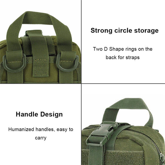 AIRSOFTPEAK Medical First Aid Pouch Tactical MOLLE Portable Outdoor Travel Camping Kit Survive Bag Cover Hunting Emergency Pack 4