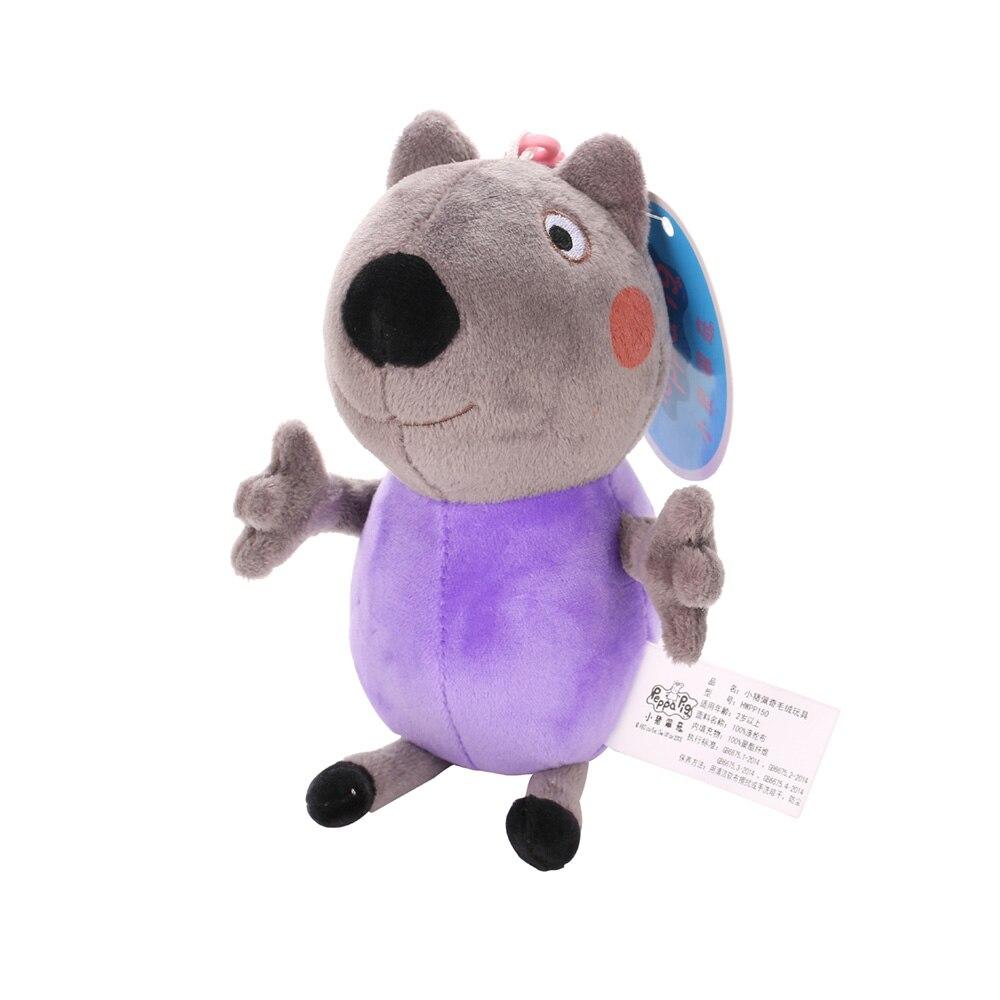Оригинальные 19 см Свинка Пеппа Джордж Животные Мягкие плюшевые игрушки мультфильм семья друг свинка вечерние куклы для девочек детские подарки на день рождения - Цвет: D