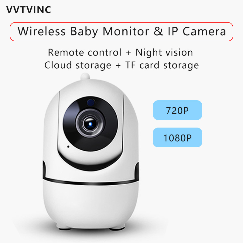 HD 1080P Cloud IP Camera WiFi Wireless Baby Monitor Night Vision Auto Tracking CCTV Network Home Security Surveillance Mini Cam