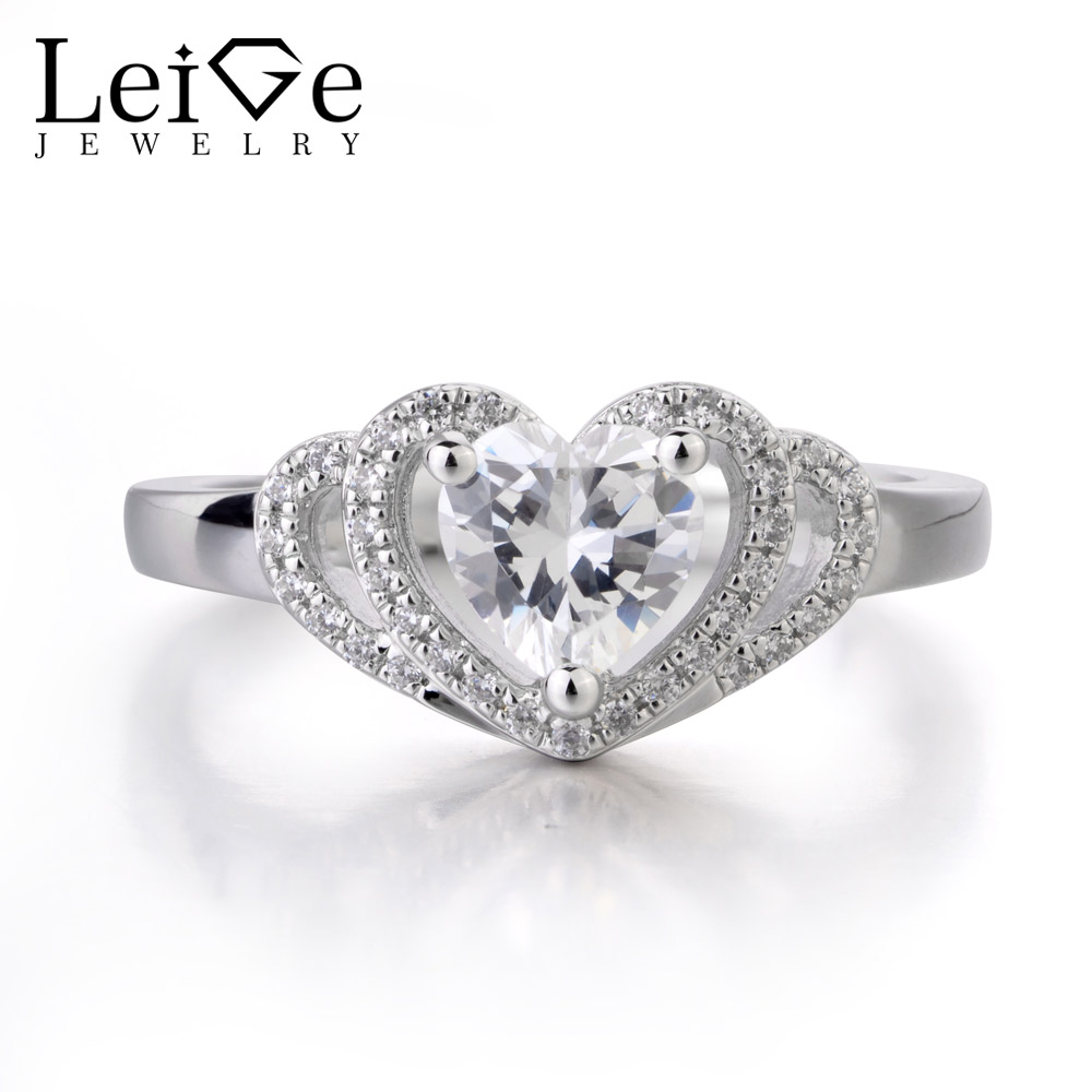 Leige Jewelry Pretty Zircon Ring Popular Style Wedding Bands Engagement Ring Heart Shape Prong Setting Promise Ring Gift For HerLeige Jewelry Pretty Zircon Ring Popular Style Wedding Bands Engagement Ring Heart Shape Prong Setting Promise Ring Gift For Her