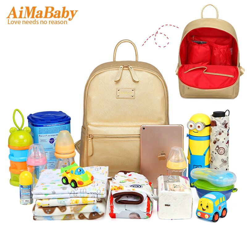 AIMABABY  2017 NEW PU designer baby diaper nappy changing mummy Maternity bag Organizer Bags for mom backpack bolsa maternidade aimababy 2017 new pu designer baby diaper nappy changing mummy maternity bag organizer bags for mom backpack bolsa maternidade