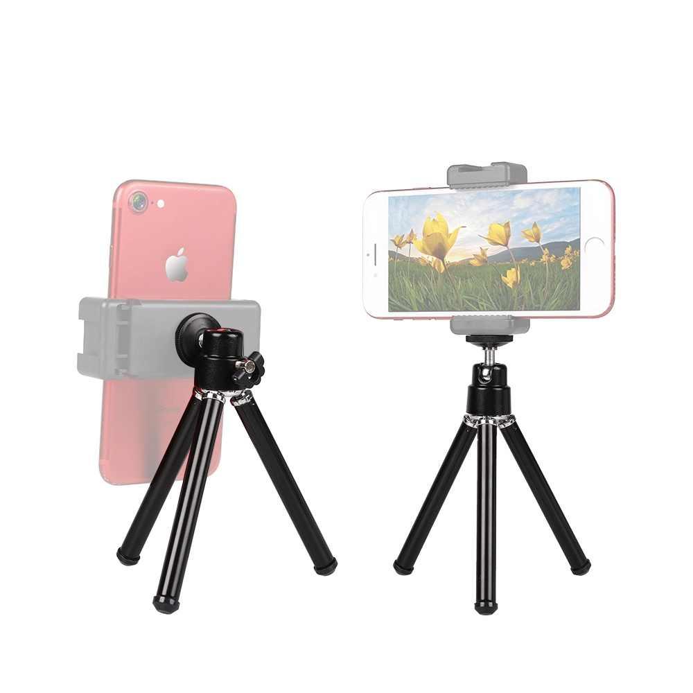 Telefone móvel Mini Tripé Monopé Tripés para Gopros 7 6 5 4 3 para Iphone 5 6 8 7 samsung Telefone Celular Xiaomihuawei