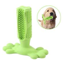 Longer Bistle Dog Toothbrush Stick Chew Toys for Aggressive Chewers, Pet Teeth Brushing Dental Care Medium and Large Dogs, B