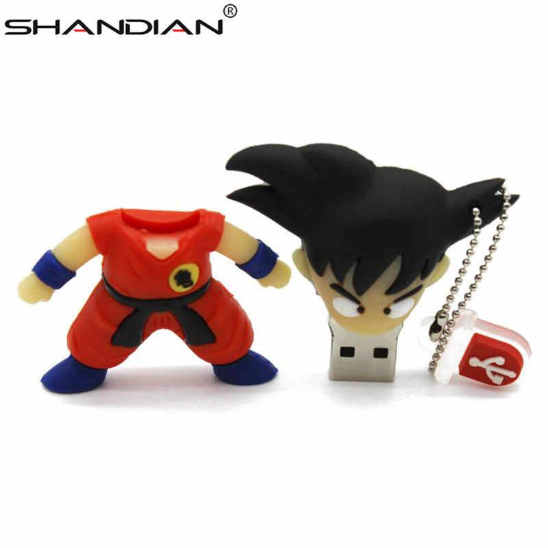 SHANDIAN プロモーションプラスチックドラゴンボール 3d 孫悟空ペンドライブ漫画 USB 2.0 メモリスティック 4 ギガバイト/8 ギガバイト/ 16 ギガバイト/32 ギガバイト/64 ギガバイト/U ディスク卸売