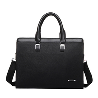 New 14inch Laptop Bag Famous Brand Business Men Briefcase Bag Luxury Leather Laptop Bag Men S