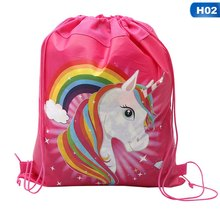 Hot Sale Unicorn Bag Fabric Backpack Child Travel School Bag Decoration Drawstring Gift Bag for Women Drop Shipping(China)