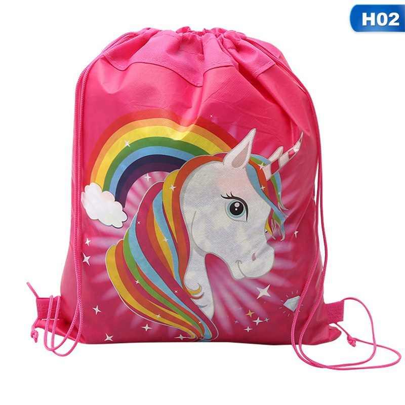 Hot Sale Unicorn Bag Fabric Backpack Child Travel School Bag Decoration Drawstring Gift Bag for Women Drop Shipping