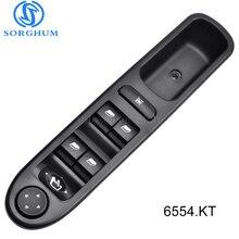 6554.KT Master Electric Power Window Control Switch 6554KT For Peugeot 307 Break 2000-2014 307SW 2002-2014 307CC 2003-2014