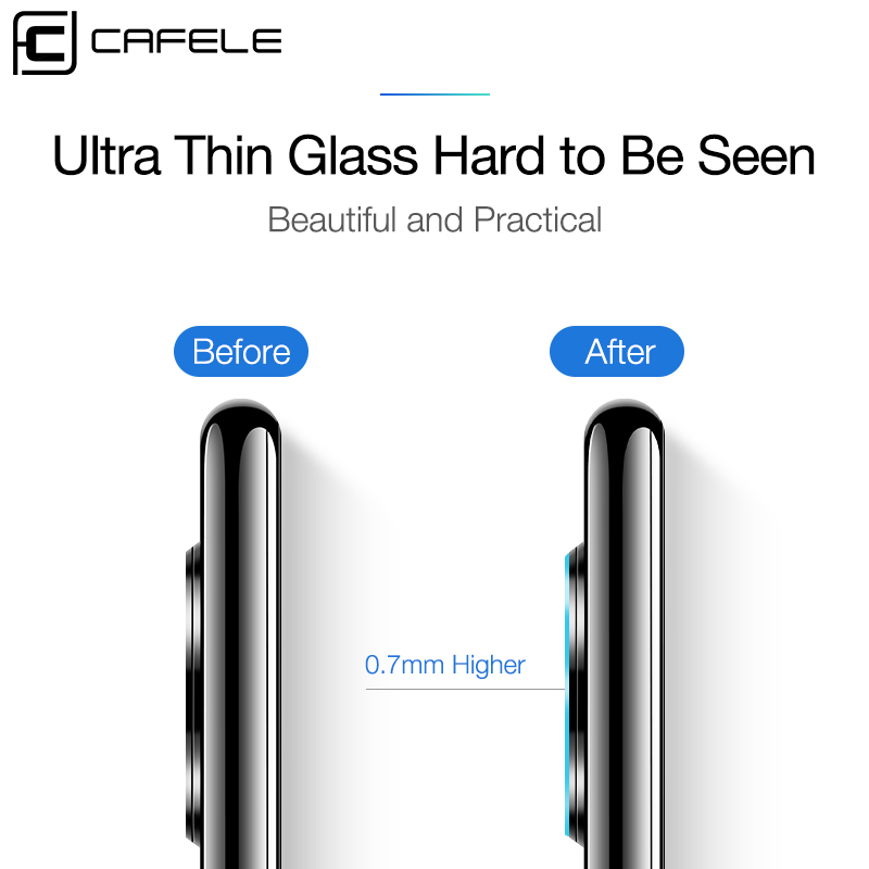 Image 5 - CAFELE Camera Lens Protector For Huawei P30 pro 2 PCS Tempered Glass for huawei p30 pro Back Camera Protective Full Slim Cover-in Phone Screen Protectors from Cellphones & Telecommunications