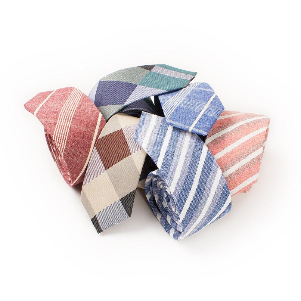 Besorgt Mantieqingway Marke Baumwolle Dünne Krawatte Krawatten Für Männer Hochzeit Schlanke Krawatte Klassische Plaid & Gestreifte Krawatte Lässig 6 Cm Krawatte Corbatas Eine VollstäNdige Palette Von Spezifikationen